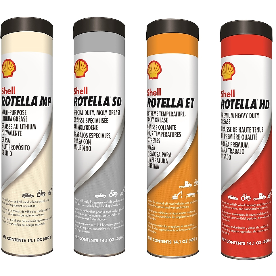 Shell Rotella Greases bottles
