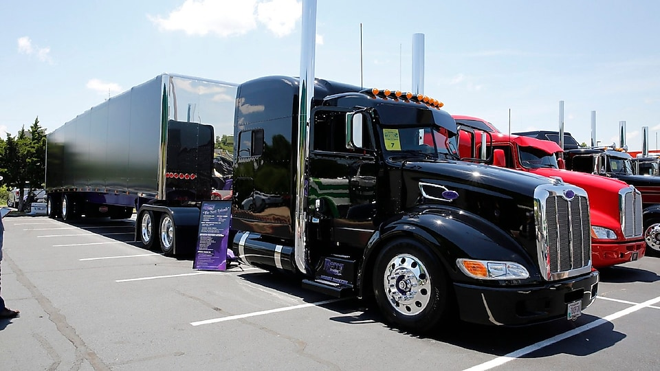 Most Hardworking Trucker - Chad Berry - Medford, WI - 2012 Peterbilt 386; 2017 Mac with Curtain